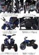画像2: 最新大口径6インチ仕様!前後ディスクブレーキ50ccMINI 四輪バギー最高速度 45km/h青色トリプルサス仕様 (2)