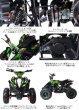 画像2: 最新大口径6インチ仕様!前後ディスクブレーキ50ccMINI 四輪バギー最高速度 45km/h緑色トリプルサス仕様 (2)