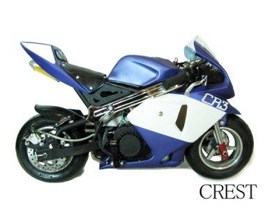 画像1: ☆最速50ccポケットバイク☆GP 青白カラーモデル【各安消耗部品】