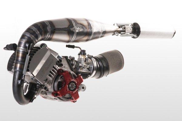 画像1: 【CS RACING】空冷40cc CS ENGINE FACTORY 40AIR (SILENCER OFFICIAL TEAM KEVLAR, CARBURATOR 15  KIT CNC COMPLETE (1)